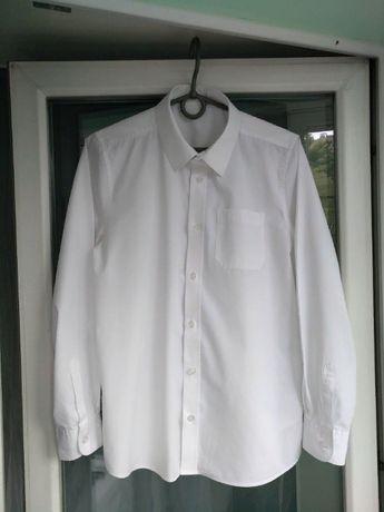 """Рубашка школьная """"f&f"""" р.152-158 мальчику 12-13лет белая, есть 2шт."""
