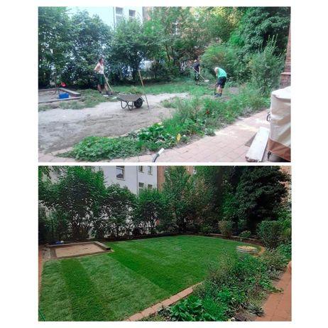 Zakładanie trawnika, nawodnienia, koszenie traw, pielęgnacja ogrodu