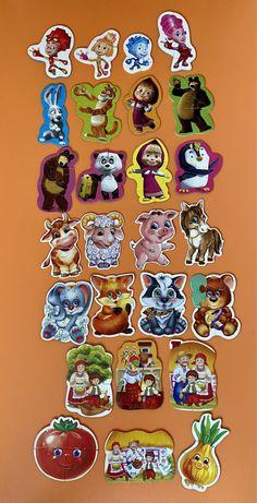 Пазлы для малышей 26 картинок Маша и медведь, фиксики
