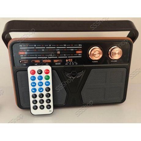 Радио с пультом Bluetooth аккумуляторное радиоприемник блютуз колонка