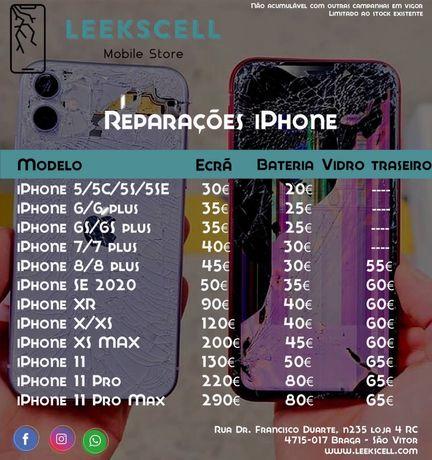 Troca vidro traseiro iphone com maquina laser. Todos os modelos
