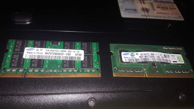 Pamięć Ram do laptopa 1x2gb 1x1gb