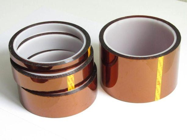 Термо-скотч термостойкий каптон 5 10 12 20 30 35 40 50 100 полиамидный