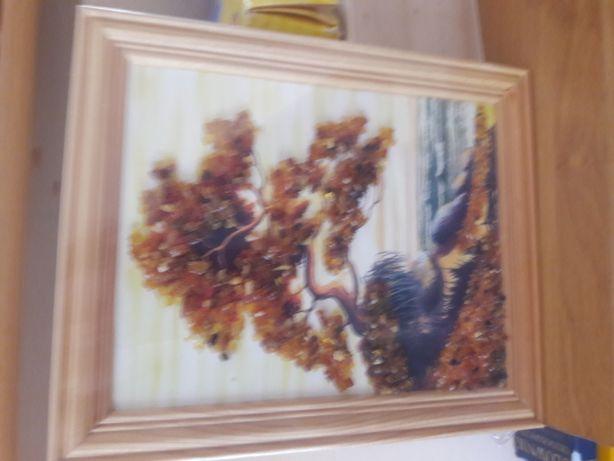 Obrazek bursztynowy z nad morza