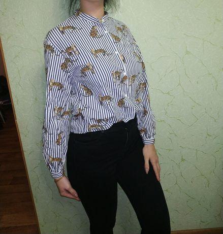 Блуза рубашка zara XS-S