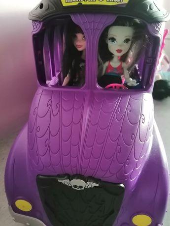 Kamper + lalki Monster High , Disney, Pony