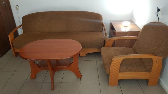 Zestaw mebli wersalka / kanapa składana + fotel + stół - Zamienię!