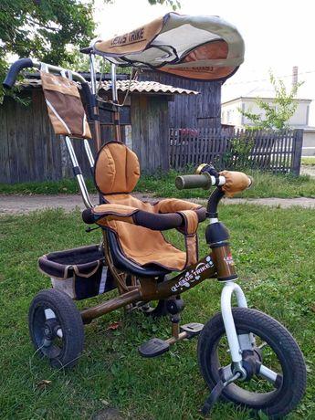 Дитячий велосипед-возик