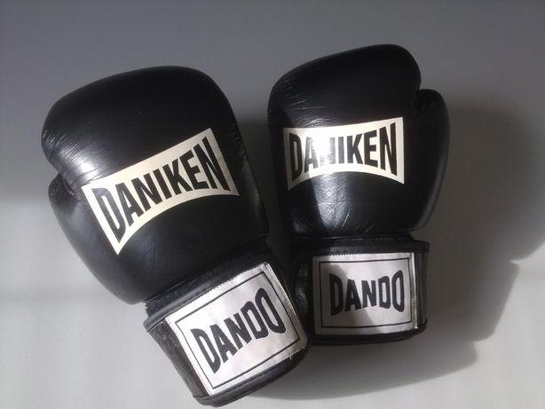 Rękawice bokserskie Daniken skóra cielęca jak NOWE + ochraniacz KRAKÓW
