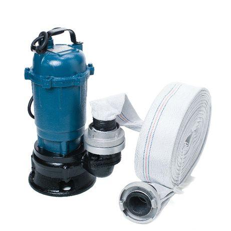 Pompa do wody brudnej szamba z rozdrabniaczem + wąż 30m