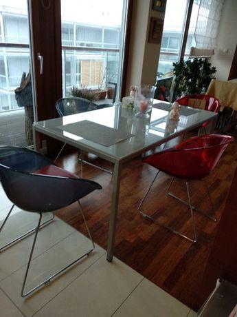 Włoski Stół ze szkła hartowanego do kuchni lub biura