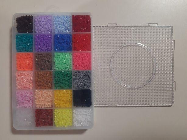 Термомозаика 2,6 мм 13000 шт +1 форма квадрат 14,5 см