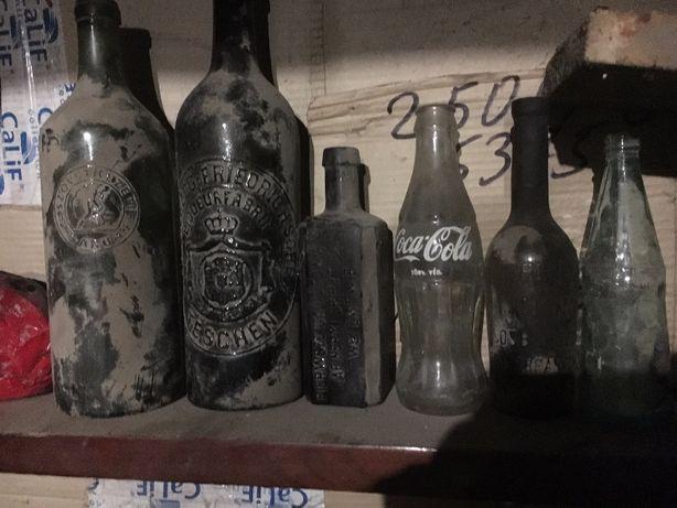 Старые бутылки старинные банки Coca Cola