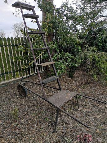drabinka-wózek do sadu lub ogrodu