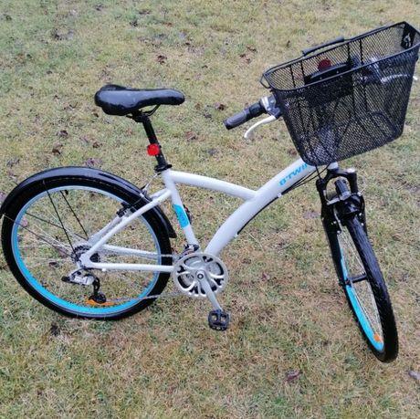 Rower damski B Twin original 500 26 cali aluminiowy z koszyczkiem