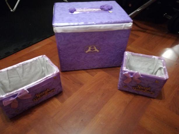 Koszyczki ratunkowe oraz skrzynia na koperty ślubne