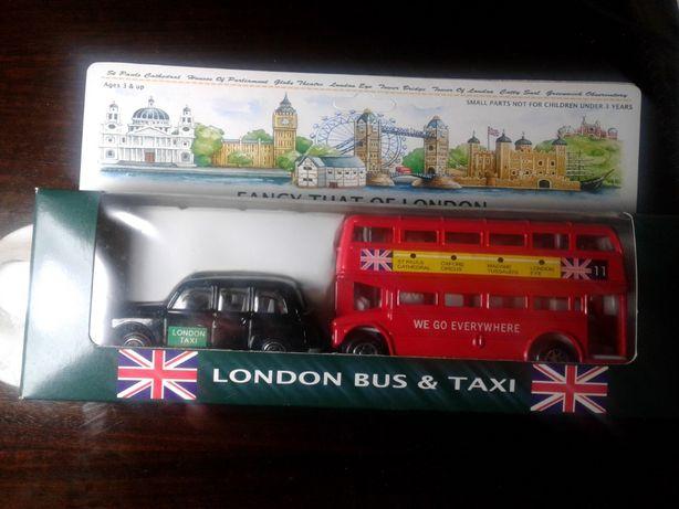 Autocarro e Táxi londrinos - miniatura