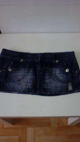 spódnica jeans drapana mini 8 zł