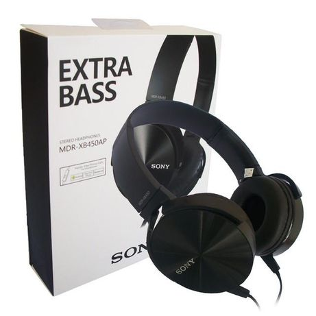 Наушники SONY Extra bass MDR- XB450AP BLACK