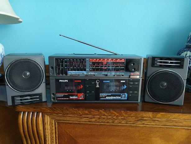 Radio stereo double casette deck PHILIPS