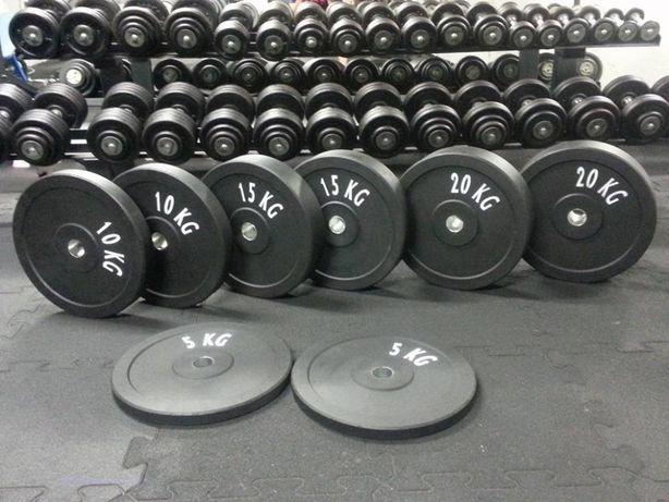 zestaw bumperów 2x10kg obciążenie gumowe olimpijskie