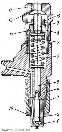 Форсунки двмгателя 4Ч-8,5/11 (16-С46-3Б-5).