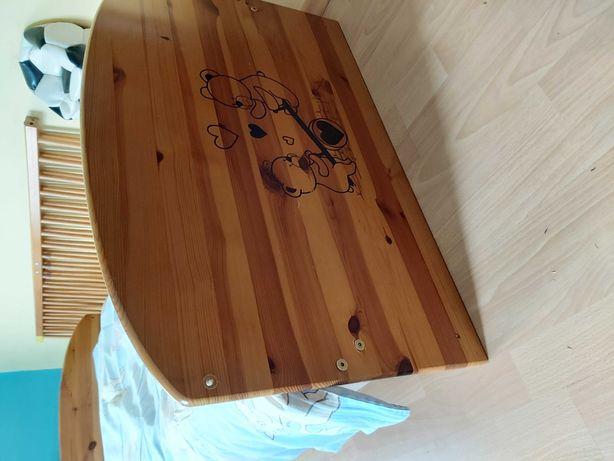 Lóżeczko drewniane