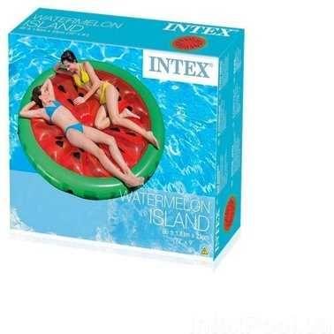 Надувной матрас для отдыха на пляже и природе плотик Intex Арбуз 56283