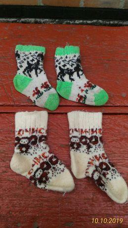 Продам детские 2 пари шерстяные носки