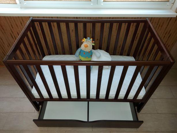 Детская кроватка Верес Соня ЛД13 дерево тёмно-коричневая+маятник+ящик!