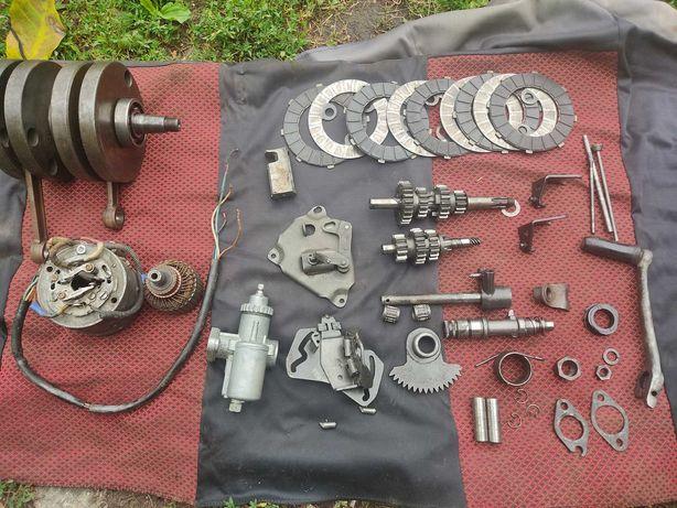 Двигатель Ява в разобранном состоянию.