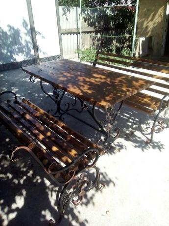 Стол, лавка, садовая мебель