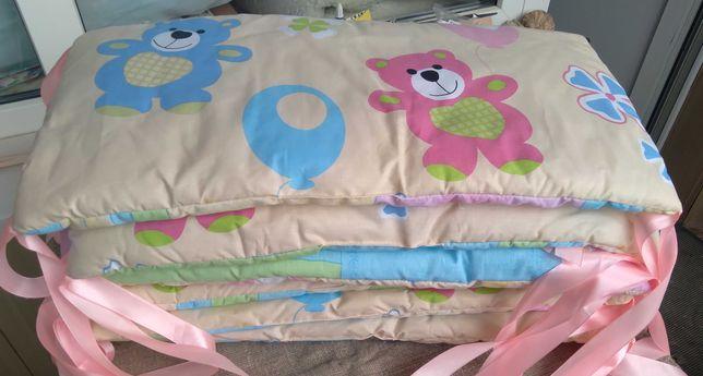 Бортики защитные для детской кроватки. Подушки защиты в кроватку