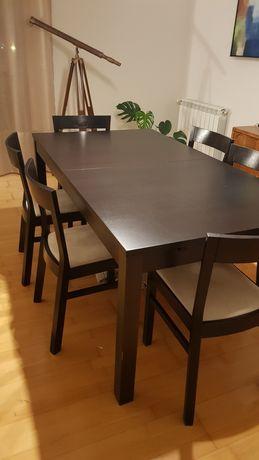 Mesa de sala extensível + 6 cadeiras