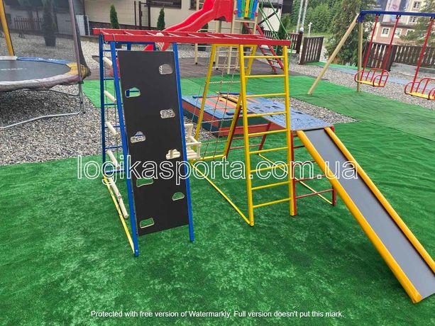 Спортивный комплекс, горка, качели, игровая детская площадка, мат