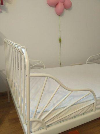 Łóżko metalowe, stelaż, materac, gratisy