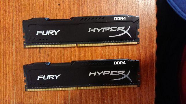 Оператина пам'ять ddr4 Kingston HyperX 16 Gb (2 по 8 Gb)