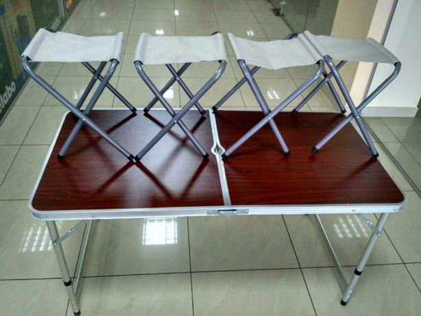 Стол складной чемодан + 4 стула для пикника, рыбалки, отдыха