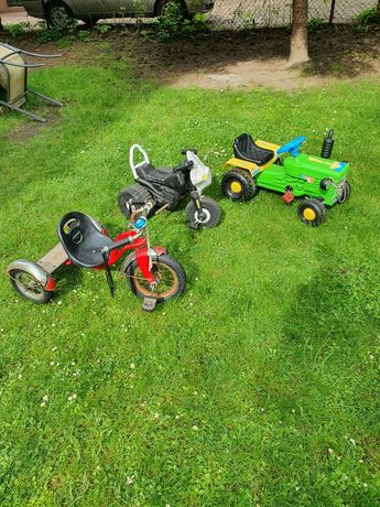 Zabawki do ogrodu i nie tylko  motor motorek rower trójkołowy
