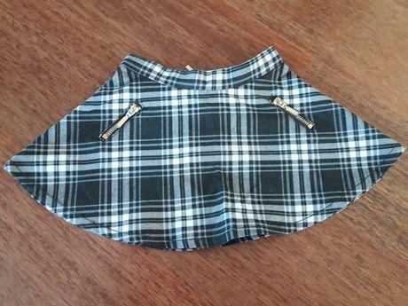 Spódnica w kratę czarno-biała H&M r.92.