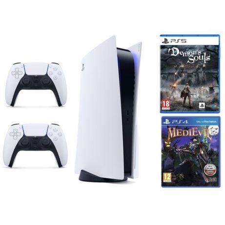Konsola PlayStation 5 z napędem, 2 pady, 2 gry. Polecam