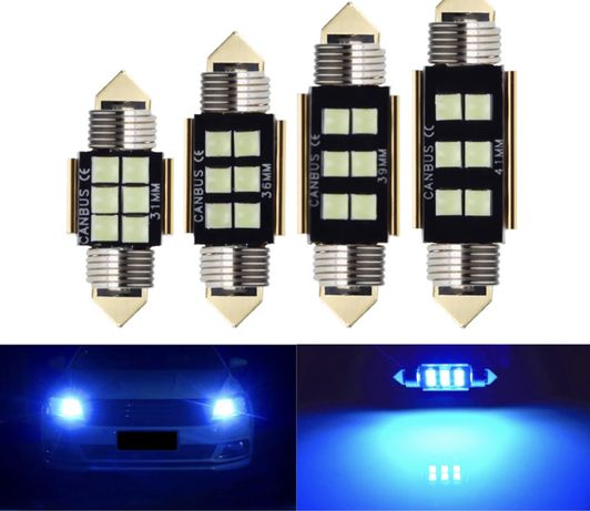 LED tubular c5w 36/39mm 7w Azul - Novo