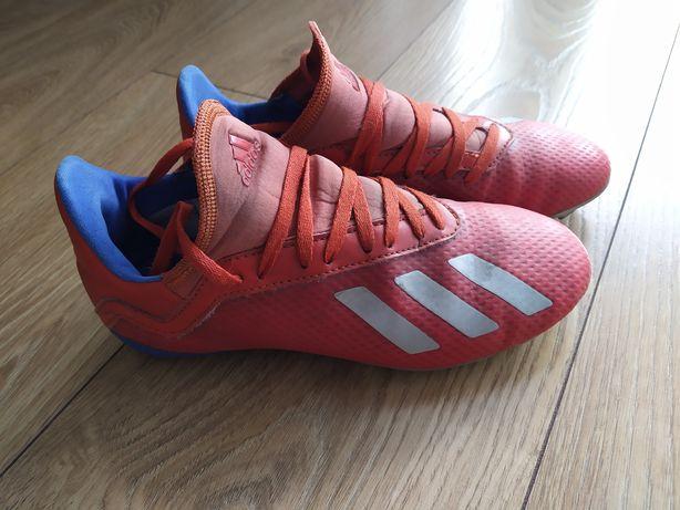 Buty piłkarskie korki X 18.2 FG Adidas dla dziecka. R. 34.