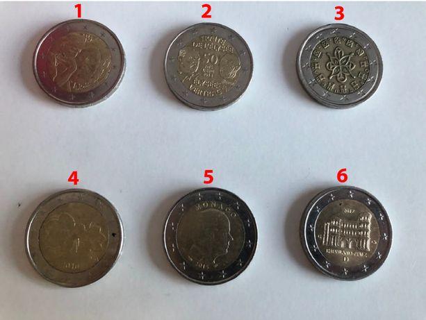 Moedas 2 euros antigas