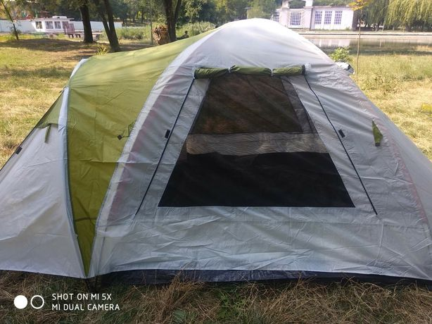 Палатка 3местная с тамбуром туристическая