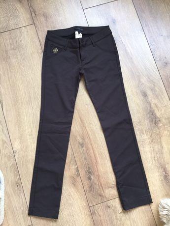 Spodnie rurki ciemny brąz r. 36-nowe