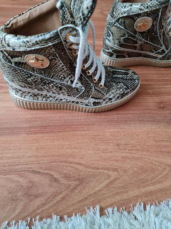 Sneakersy skórzane Giulio Santoro 38
