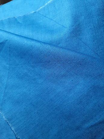 Ткань, сатин синий 80х400см для рукодельниц