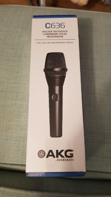 Mikrofon AKG C636 BLK Pojemnościowy - do wokalu
