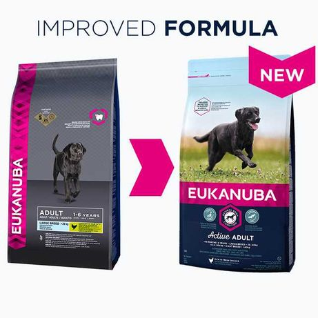 Eukanuba Adult Large Frango 12+6kg / ração para cão - PORTES GRÁTIS